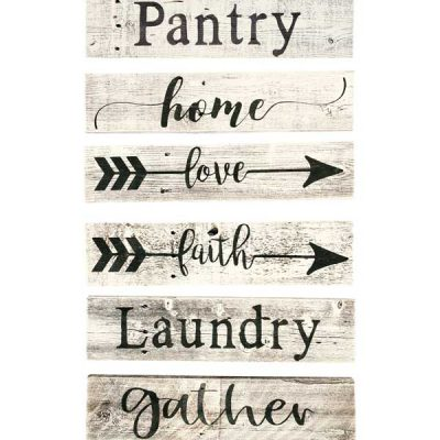 Rustic Farmhouse Decor Sign- 100% Reclaimed Wood - Weathered barn Wood Fixer Upper Style