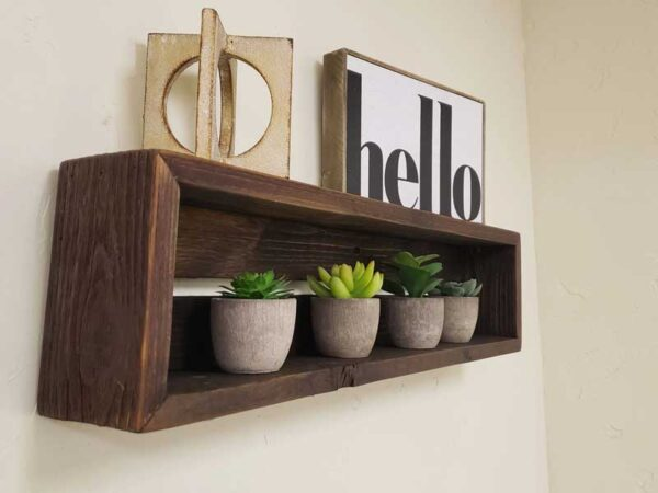 Rustic Floating Shelf with hand rubbed oil finish
