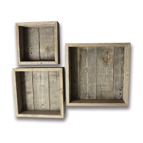 Reclaimed Wood Shadow Box with Wood Backing