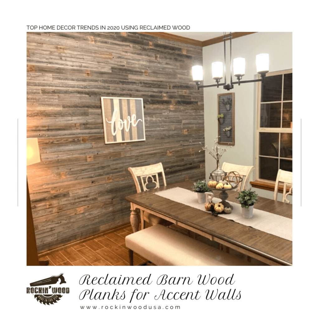 Reclaimed Barn Wood Planks for Accent Walls