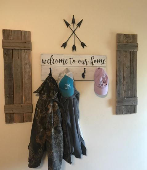 Rustic Shutters Made From Reclaimed Barn Wood