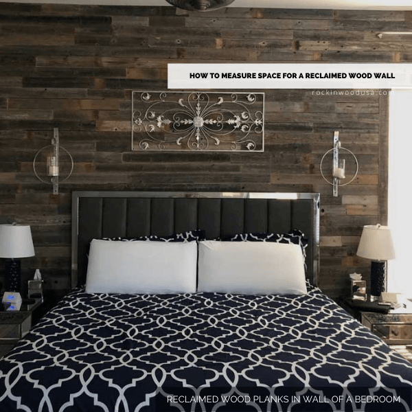 Reclaimed Wood Planks in a Wall of a Bedroom