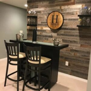 Reclaimed barn wood wall paneling planks for accent walls (NOT Peel & Stick)