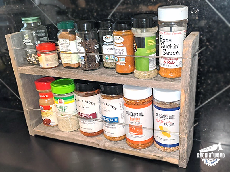 Rustic Spice Rack with Bailing Wire