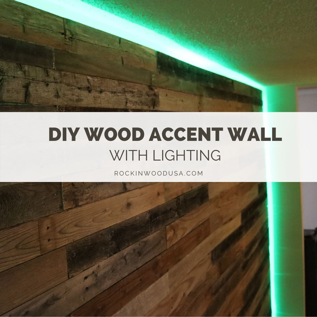 Diy Tutorial Install A Wood Accent Wall: DIY Wood Accent Wall With Lighting