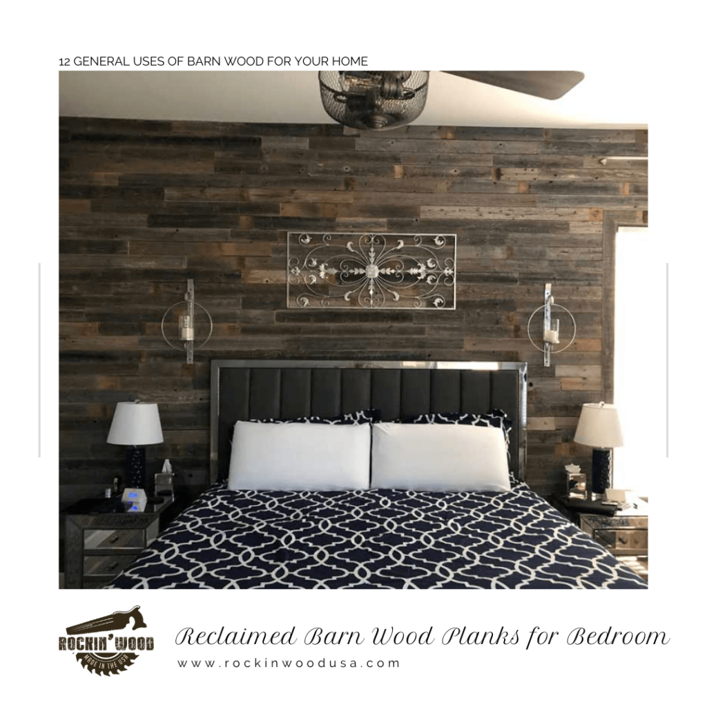 Reclaimed Barn Wood Planks for Bedroom