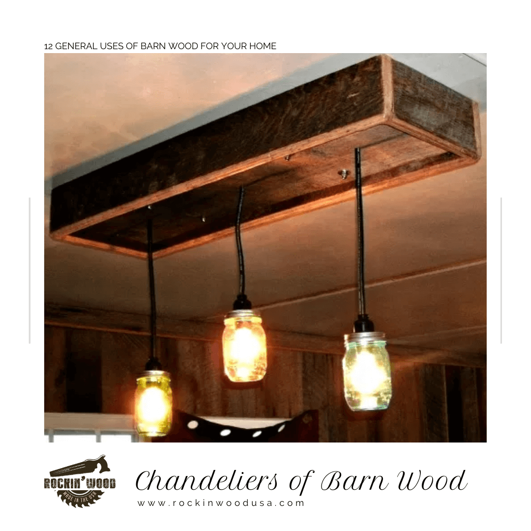 Chandelier of Barn Wood