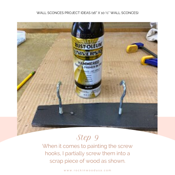 Wall Sconces Project Ideas_Step 9_Screw hooks