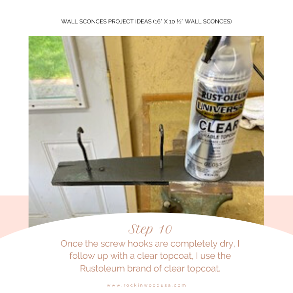 Wall Sconces Project Ideas_Step 10_Clear Topcoat