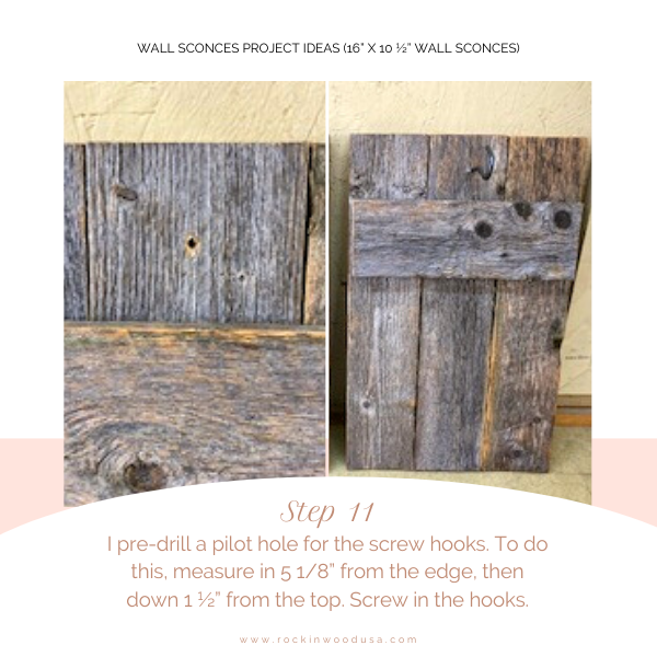 Wall Sconces Project Ideas+Step11_Pre-drill_Screw hooks