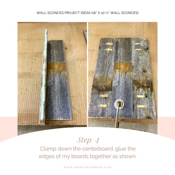Wall Sconces Project Ideas_step 4_clamp centerboard