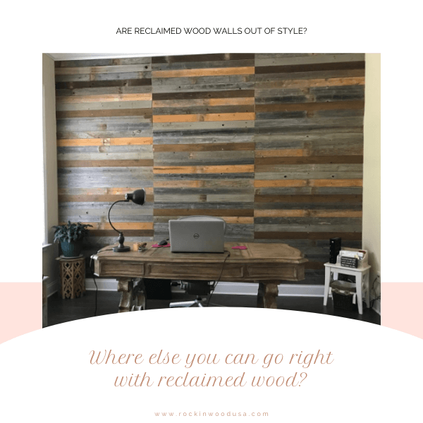 make the best of Reclaimed wood wall