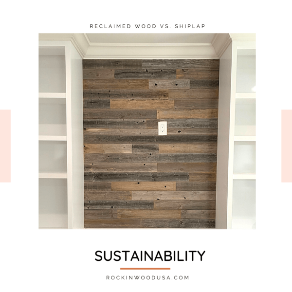 sustainability - reclaimed wood wall paneling planks