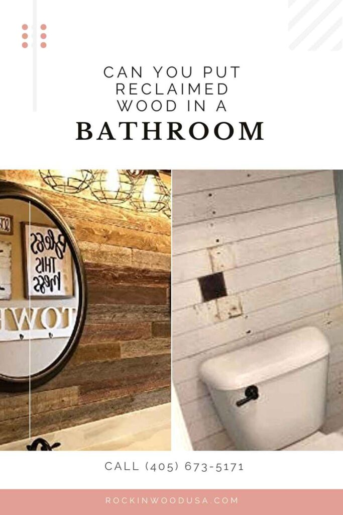 Pinterest-Can you put reclaimed wood in a bathroom