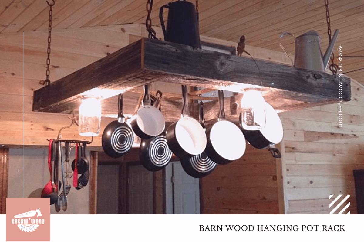 barn wood hanging pot rack