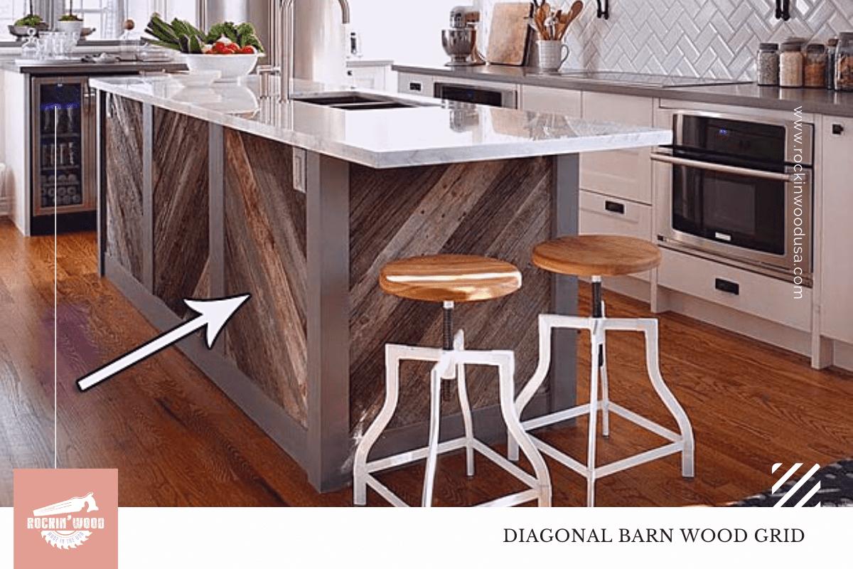 diagonal barn wood grid