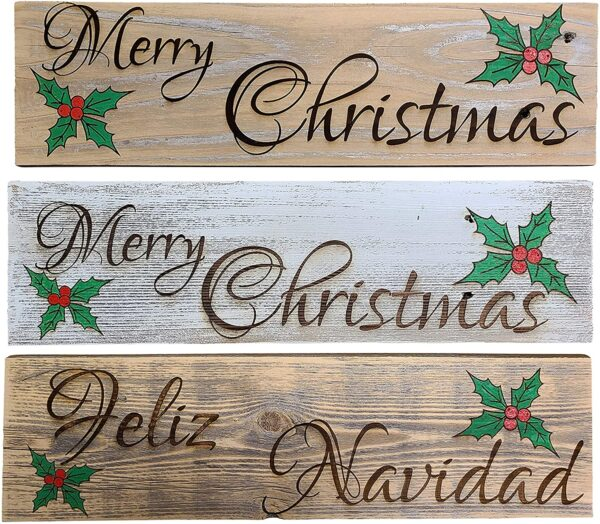 Feliz Navidad-Merry Christmas Sign