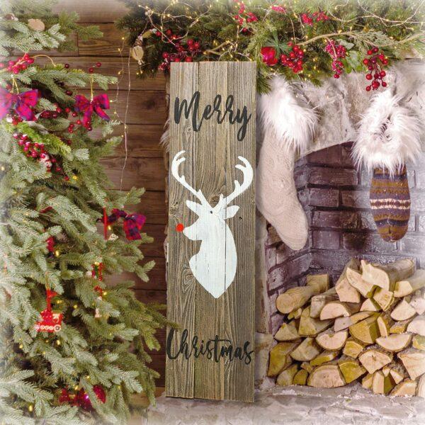 merry Christmas reindeer sign