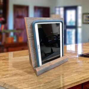 Tablet stand on countertop