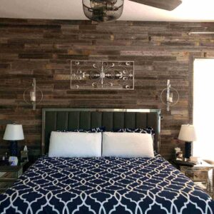 reclaimed wood features